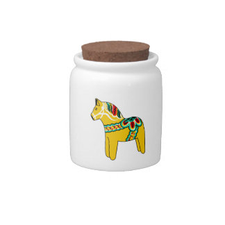 Yellow Dala Horse Candy Dish