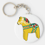 Yellow Dala Horse Keychain