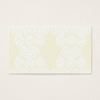 Yellow Damask Business Card