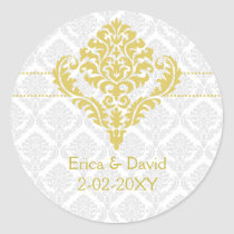 yellow damask envelope seals