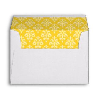 Yellow Damask Envelopes 5x7