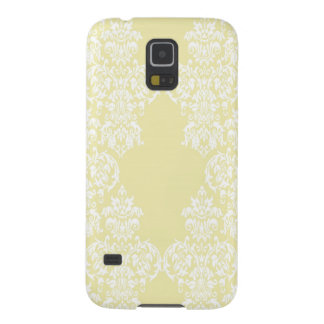 Yellow Damask Galaxy S5 Cases