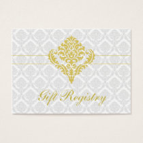 yellow damask Gift registry  Cards