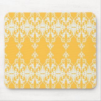 Yellow Damask Mouse Pad