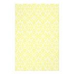 Yellow Damask Paper Stationery Design