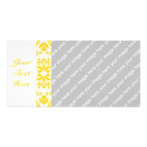 Yellow Damask Pattern Card