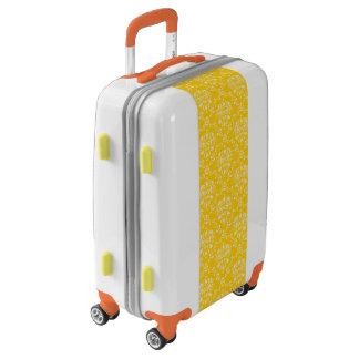 Yellow Damask Pattern Luggage