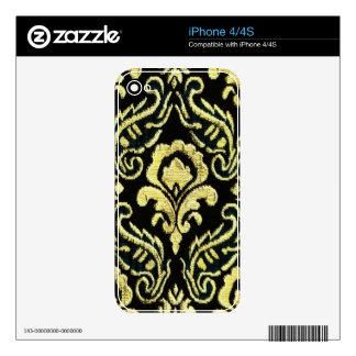 Yellow Damask Phone Skin