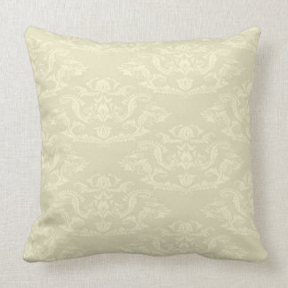 Yellow Damask Pillow
