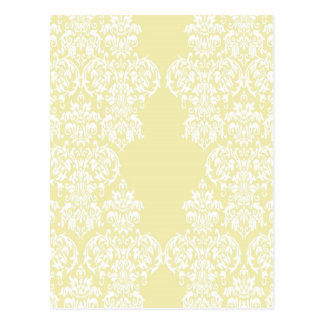 Yellow Damask Postcard