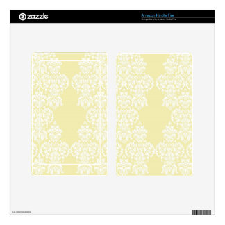 Yellow Damask Skin For Kindle Fire