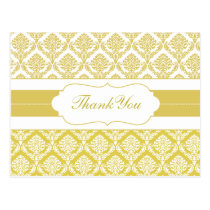 yellow damask ThankYou Cards