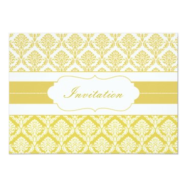 yellow damask  wedding invites