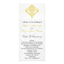 yellow damask Wedding program