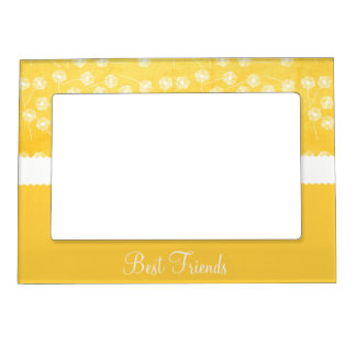 Yellow Dandelion Best Friends Magnetic Picture Frame