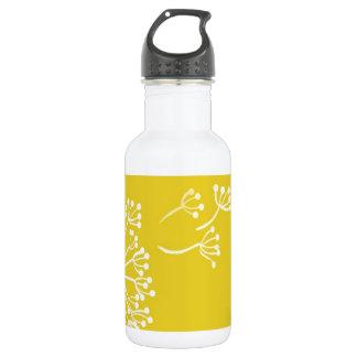 Yellow Dandelion Design 18oz Water Bottle