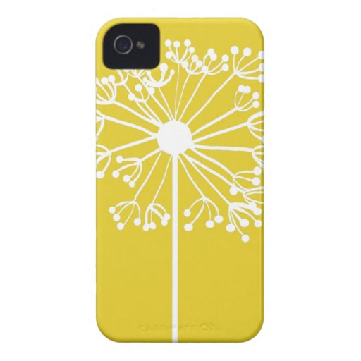 Yellow Dandelion Design iPhone 4 Case