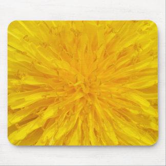 Yellow Dandelion Flower Photo Dot 0560 Mouse Pad