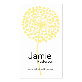 Yellow Dandelion Flower Vertical Business Cards