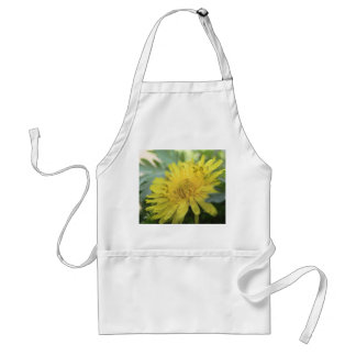 Yellow Dandelion In The Shade Adult Apron