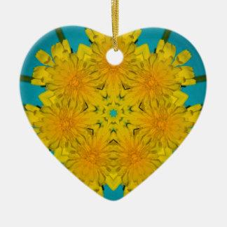 Yellow Dandelion Nov 2012 Ornament