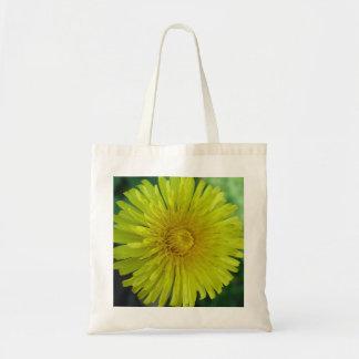 Yellow Dandelion Photo Image Budge Tote Bag