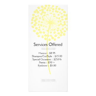 Yellow Dandelion Services Rack Card