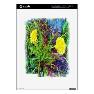 yellow dandelion decal for iPad 3