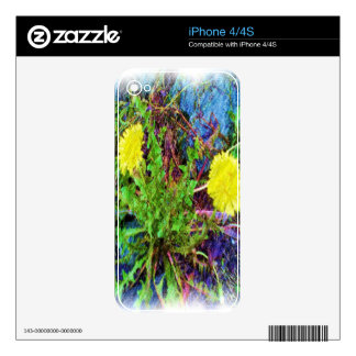 yellow dandelion skin for the iPhone 4
