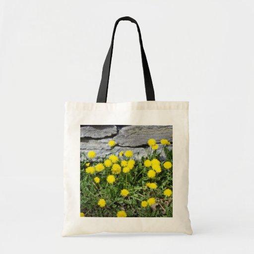 yellow Dandelion (Taraxacum Officinale) flowers Tote Bag