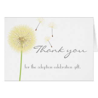 Yellow Dandelion Thank You Card