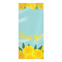 Yellow dandelions on a blue background magnetic invitation