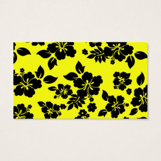 Yellow Dark Hawaiian Business Card