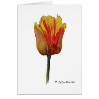 Yellow Darwin Series Tulip Greeting Card