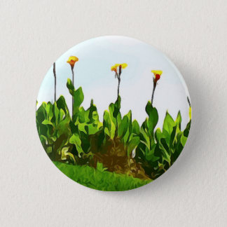 Yellow Day Lilies Button