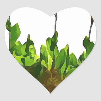 Yellow Day Lilies Heart Sticker