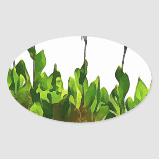Yellow Day Lilies Oval Sticker
