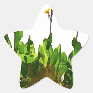 Yellow Day Lilies Star Sticker