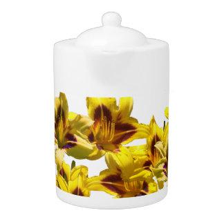 Yellow Day Lilies Teapot