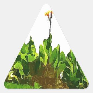 Yellow Day Lilies Triangle Sticker
