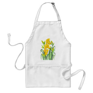 Yellow Day Lillies Adult Apron