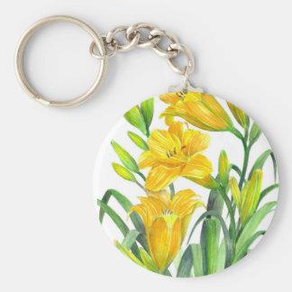 Yellow Day Lillies Keychain
