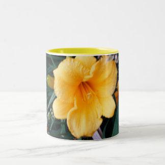 Yellow Day Lily Two-Tone Coffee Mug