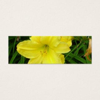 Yellow Daylilies Bookmark Mini Business Card