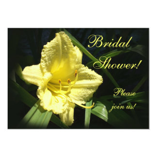 Yellow Daylily Bridal Shower Personalized Announcements