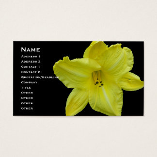 Yellow Daylily Coordinating Items Business Card
