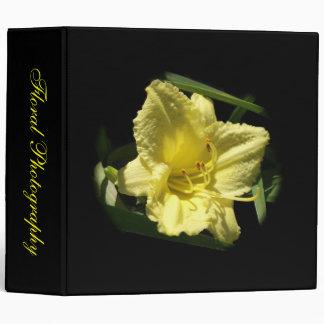Yellow Daylily Flower Vinyl Binders