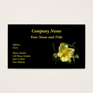 Yellow Daylily Flower Business Card
