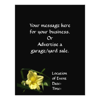 Yellow Daylily Flower Full Color Flyer