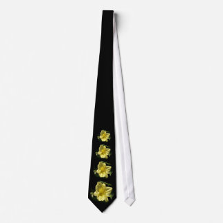 Yellow Daylily Flower Hemerocallis Neck Tie